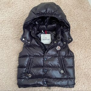 Moncler toddler hooded vest